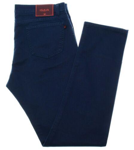 Isaia 5 Pocket Stretch Jeans Size 36 Blue 06JN0258 $495
