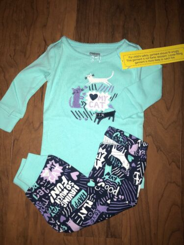 Gymboree Girls Long Sleeve Pajamas Gymmies Love My Cat size 6-12 Month