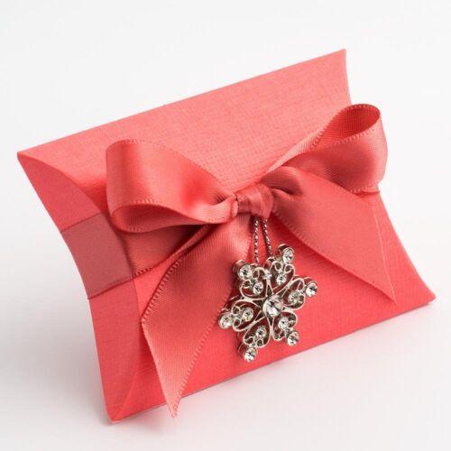 Coral Silk Bustina Box Pack de 10 Mariage Faveur Cadeau 87093