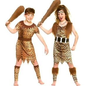 Details about Child STONE AGE CAVE Fancy Dress Costume Kids Boys Girls  Animal Jungle Iron Age