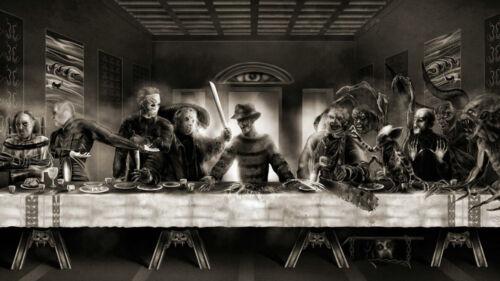The Last Supper Freddy vs Jason Horror Movie Silk Poster 13x24 24x43 inch