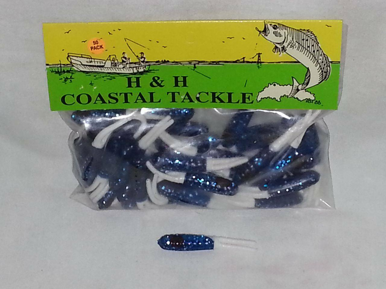 """2 Packs Of 3/"""" H/&H Sparkle Beetle Opening Night Chartreuse Tail NIP"""