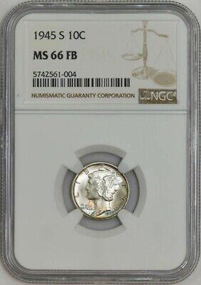 1945 S Mercury Dime NGC MS66