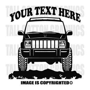 Jeep Cherokee XJ Custom Vinyl Decals Black Jeep of the Family