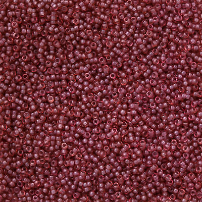 Miyuki 15//0 Seed Beads 15-1606 Dyed Semi Frosted Transparent Rose 8.2g M109//6