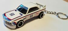 Hotwheels 73 bmw 3.0 csl race car keyring diecast car