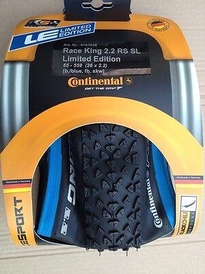 "Continental Race King Race Sport 26*2.2"" Reifen, faltbar, Black Chili, blau/schw"