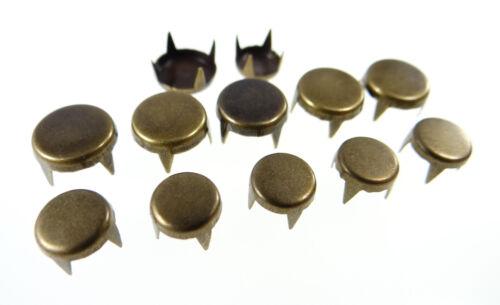 a43-a44 50 unidades aproximadamente tachuelas tachuelas plana inoxidable remaches decorativos Gothic punk