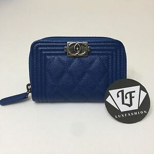 chanel zip card case. image is loading auth-chanel-boy-zip-around-coin-purse-card- chanel zip card case e