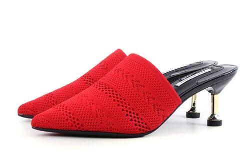 Femme Sandales Chaussures ajourées Stilettos Talon Haut Compensés à bout pointu Bride Arrière Casual