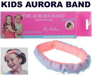 La-banda-de-Aurora-Ninos-Childrens-dormir-en-la-noche-Rodillo-Pelo-Banda-Rizos-Dragons-Den