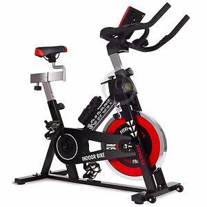 Bicicletta-spinning-indoor-regolabile-display-LCD-volante-inerzia-24kg-GOSPORT