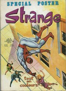 RARE-EO-STRANGE-N-70-OCTOBRE-1975-POSTER-DE-DAREDEVIL-amp-SPIDER-MAN