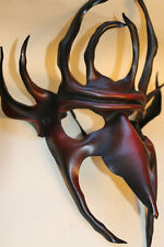 Red to Black Demon Goblin King Mask Handmade Leather Venetian Masquerade