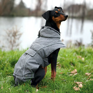 Trixie Grey Dog Coat Coatings Téflon® 37-55cm x 36cm
