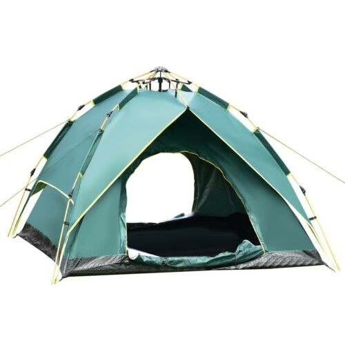 New 2-3 Person Beach Waterproof Automatic Hydraulic Hiking Camping Tent Travel