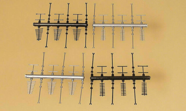 42653 Auhagen Ho Package Antennas TV Various 24 Pieces Scale 1:87