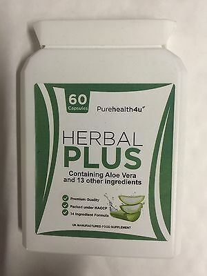 COLON CLEANSE 60s ALOE VERA PROBIOTICS CLEANSING HERBS LAXATIVE DIET FAT LOSS