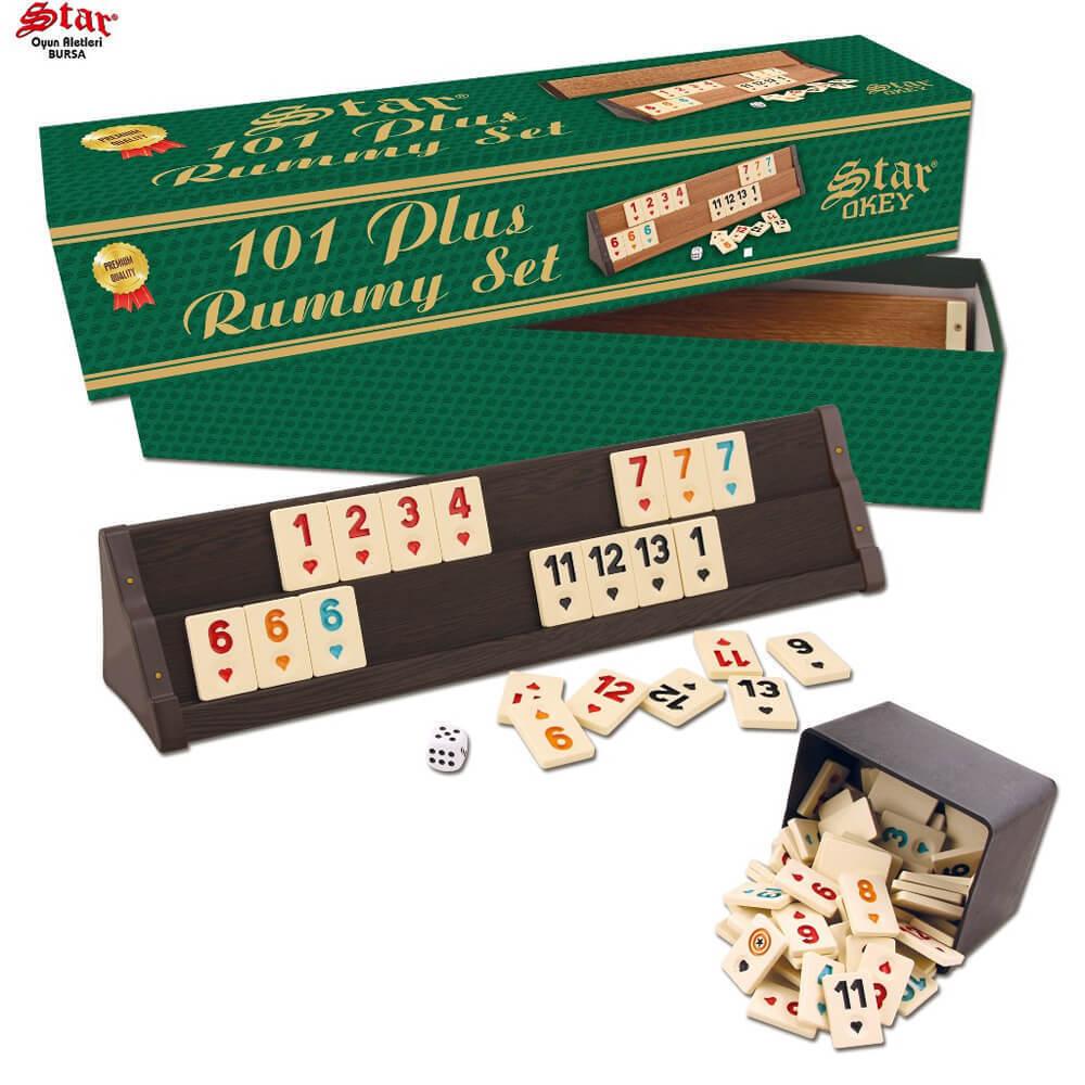 101 RAMI plus jeu Rummikub Tile jeu STAR-rumy avec carreaux de nouveau dans la boîte NEUF