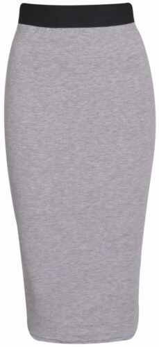 New Look Women Pencil High Wasted Plain Body con Ladies Stretch Print Midi Skirt