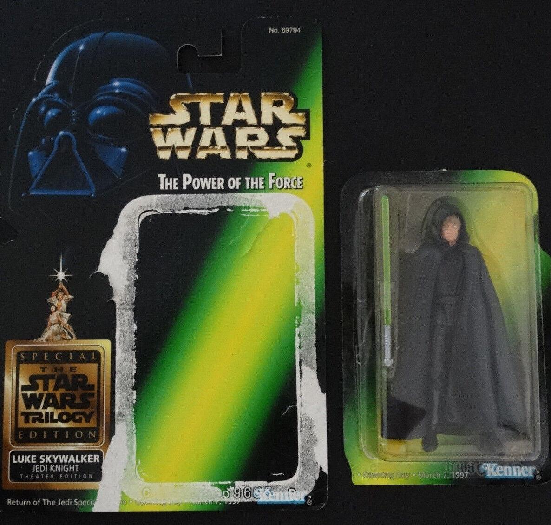 1997 Star Wars POTF Luke Skywalker Jedi Knight Theater Edition Figure