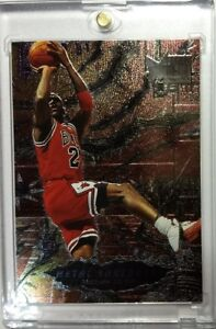 1996-96-97-Fleer-Metal-Shredders-Michael-Jordan-241-Sharp-Chicago-Bulls-HOF