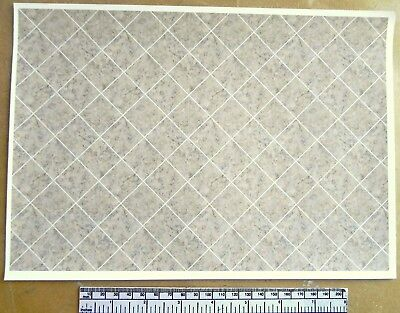 Dolls House 1//12th Scale Self Adhesive Vinyl Sheet Large Marbled Floor