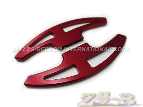 Red Aluminum Hairlines Steering Shift Paddles For 2008-2013 BMW E90 E92 E93 M3