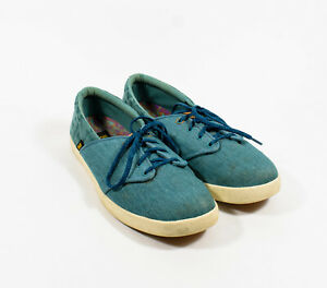 Women-039-s-Teva-Willow-Blue-Lace-Up-Canvas-Casual-Sneakers-Shoes-Sz-11