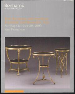 Bonhams Auction Catalog 2005 Fine European American Furniture Decorative Ebay