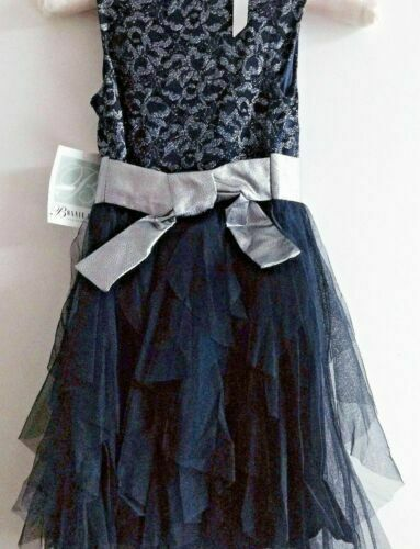NWT Bonnie Jean Floral Cascading Lace Special Occasion Party Dress 6x 14 16