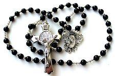 Beautiful & Durable Men's or Women's Onyx Agate Catholic Rosary
