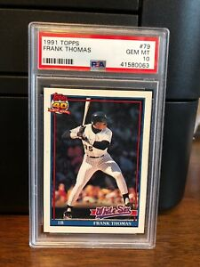 Details About 1991 Topps Frank Thomas Baseball Card 79 Psa 10 Gem Mint