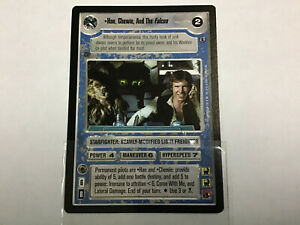 Star-Wars-Game-Card-Han-Chewie-And-The-Falcon-Reflections-Ship-Light-Side