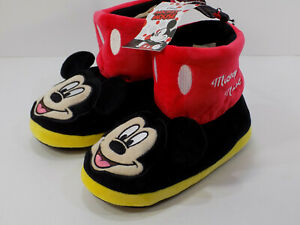 Disney-Mickey-Mouse-Bootie-Slippers-Boy-Girl-Size-7-8-BRAND-NEW