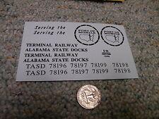 Herald King decals O Terminal Railway Alabama State Docks blackXX113