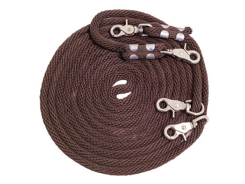Equi-Sky Training Draw Reins Scissor Snaps  Horse Training Brown 16'  choices with low price