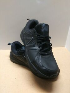 New Balance Mens MX857V2 Low Top Lace Up Running Sneaker, Black/Black, Size 13