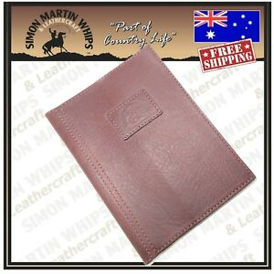 Image Is Loading NEW Genuine Leather A4 Diary Cover Australian Made