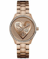 Guess Women's Rose Gold Tone Stainless Steel Bracelet Watch U0910L3