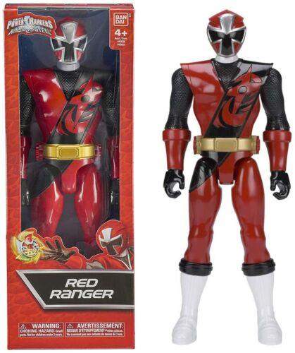 POWER Rangers 43621 NINJA acciaio 30cm Red Ranger Figura Nuovo