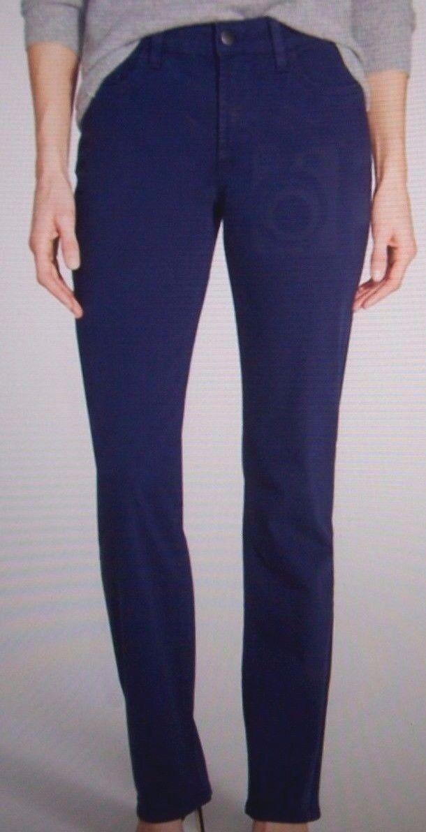 Nouveau NYDJ Not Your Daughters Jeans Hayley Oxford Bleu Marine Coupe Droite Pantalon 6P 14P