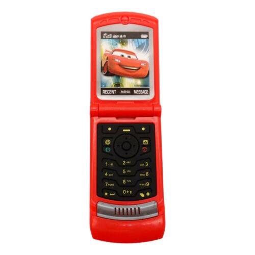 Dialing Sounds Toy Toddler Toy Flip Phone Cars, Red Pretend Play