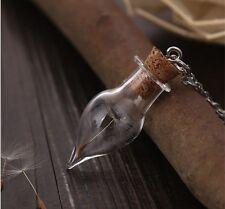 Halskette Flaschenpost Talisman Glücksbringer Pusteblume Amulett Geschenk 24
