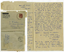 NIGERIA 1949 AEROGRAMME + LETTER from IBADAN HIGH SCHOOL DADSON