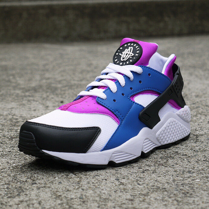 new style a98a0 dce42 Nike Air Huarache 318429-415 Men s Athletic shoes shoes shoes bluee Jay  White-Hyper