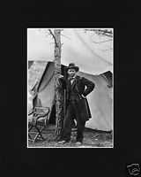 General Ulysses S. Grant Civil War Cold Harbor Black Matted Photo Picture Cw2