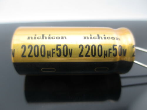 JAPAN 6PCS Nichicon  FW 2200uf  50V 2200mfd Audio Capacitor
