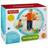Fisher-price Pull Along Turtle In Box 12-36 Months Develops Motor Skills