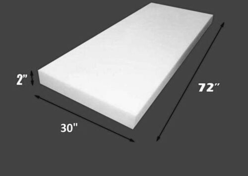 """Dry Fast Reticulated Foam Sheets Upholstery Foam 2/"""" Thick 30/"""" Wide x 72/"""" Long"""